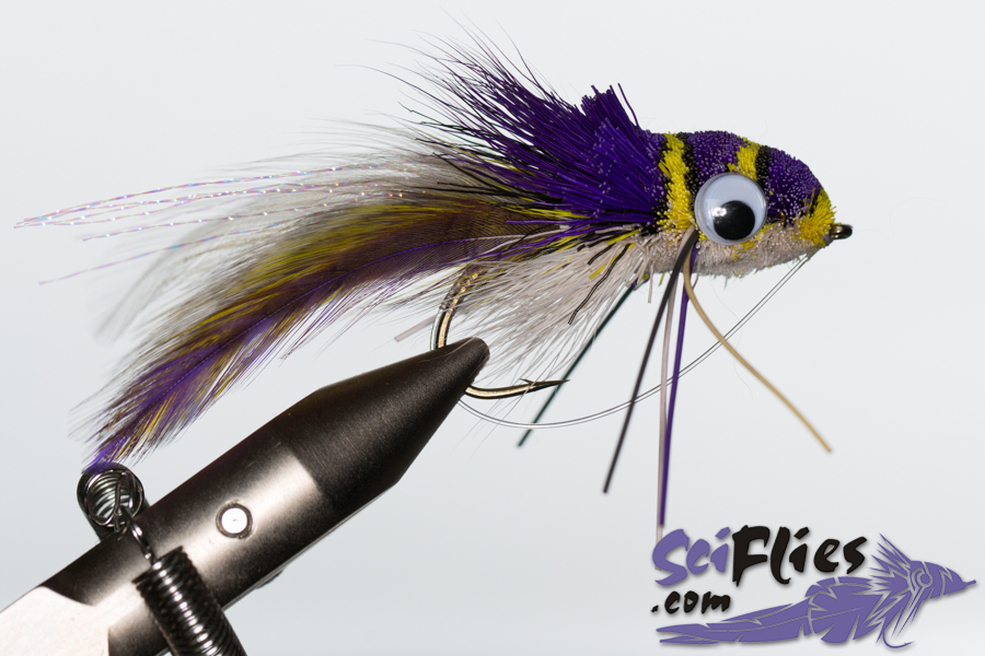 Deer Hair Diver – WhitePurple