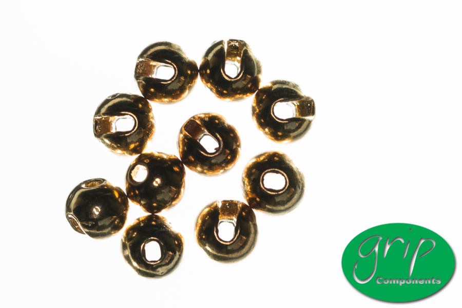 Tungsten Beads Slotted – Gold