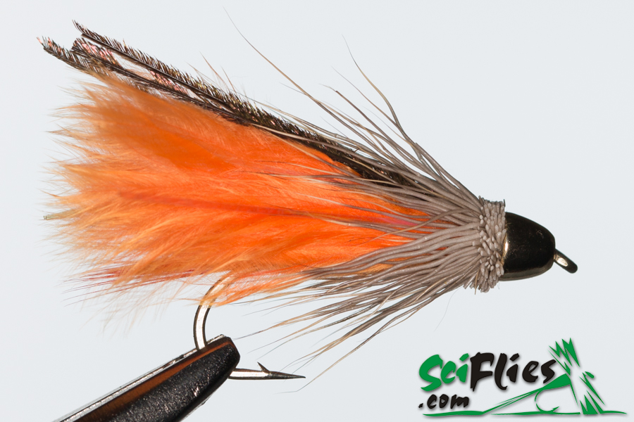 Marabou Muddler Brass Cone – Orange