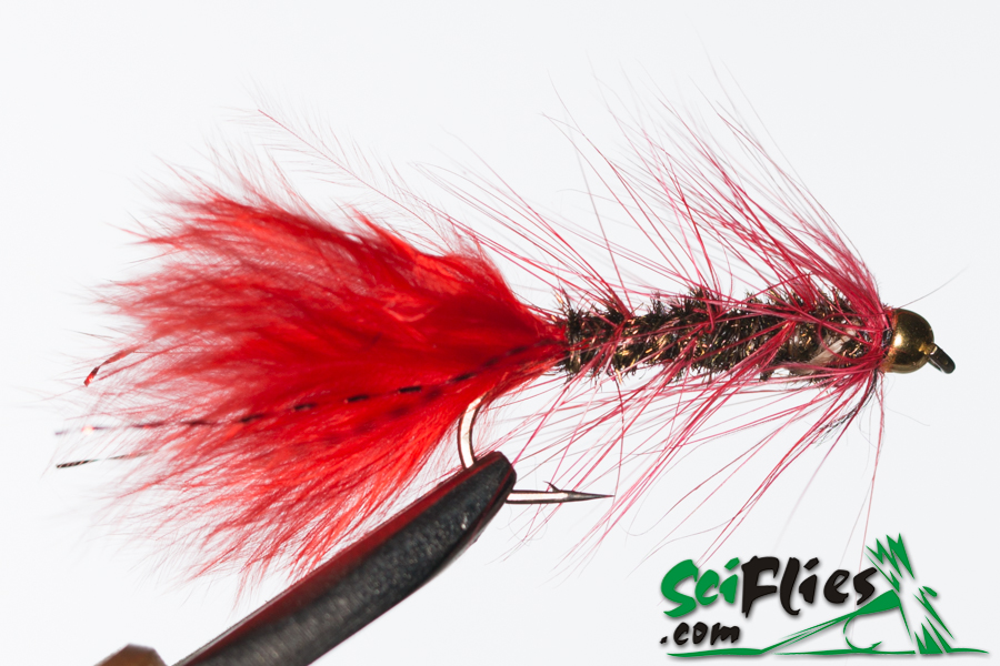 Woolly Bugger – Red-Peacock