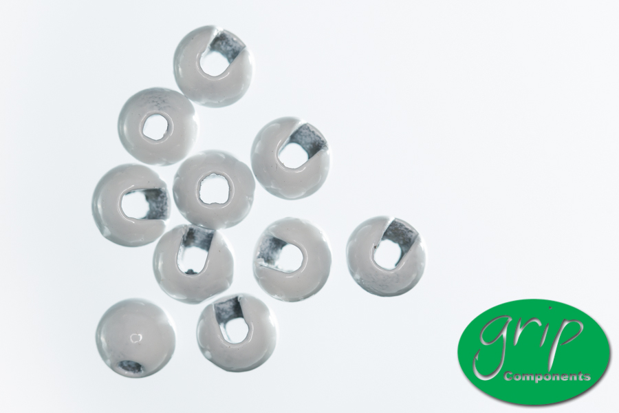 Tungsten Beads Slotted – White