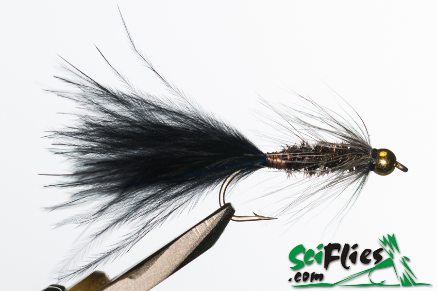 Woolly Bugger – BlackPeackock Grizzly