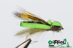 Foam Wing Hopper - Lime