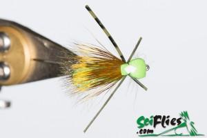 Foam Wing Hopper - Lime (Top View)
