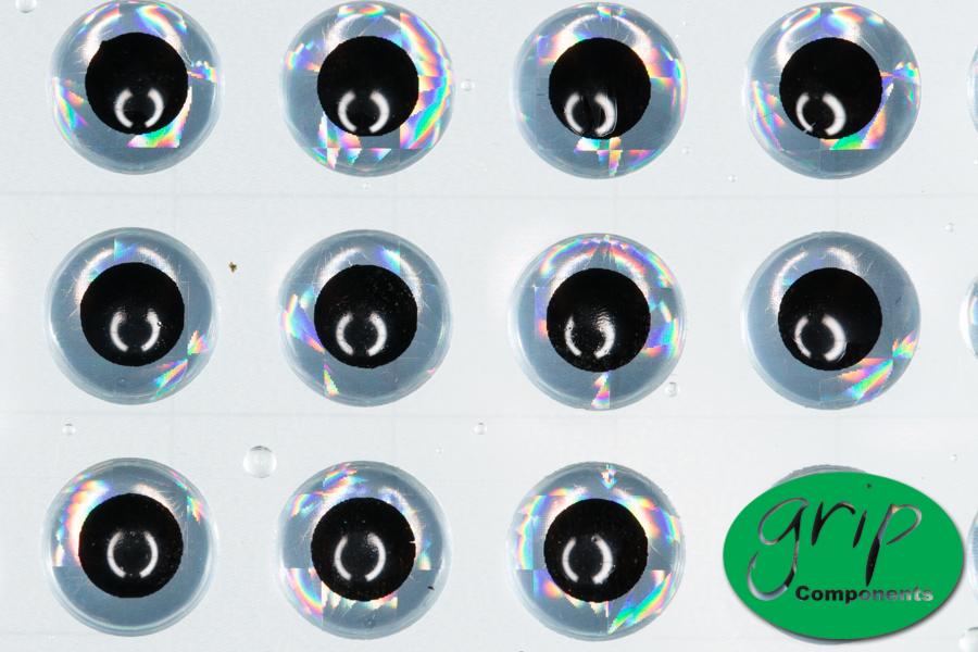 Stick On Eyes – 3D Silver