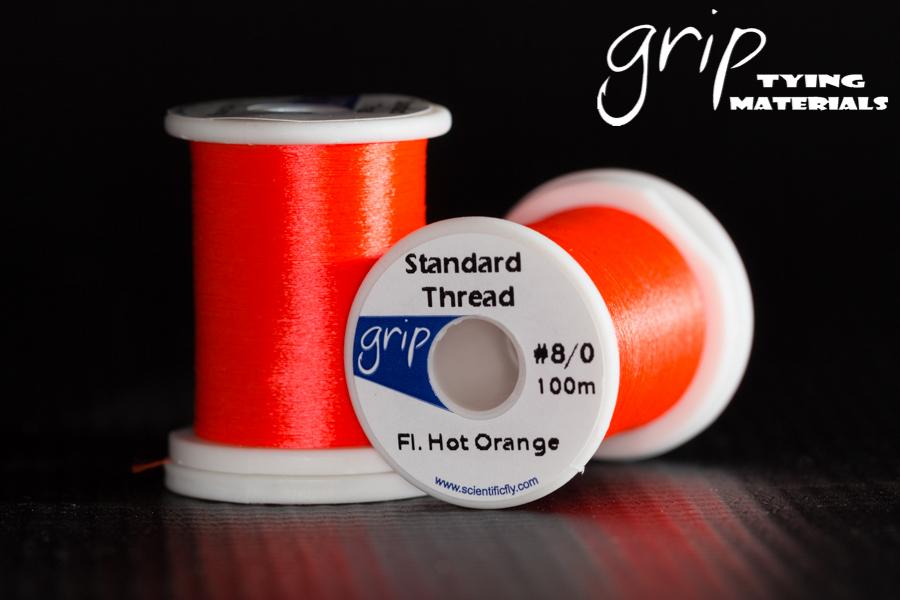 Grip Standard Thread #8-0 – Fl. Hot Orange