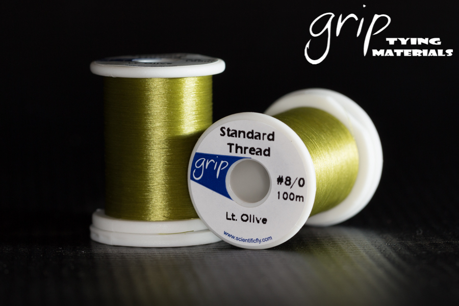 Grip Standard Thread #8-0 – Lt. Olive
