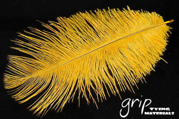 Ostrich Plumes 9 – Golden Yellow