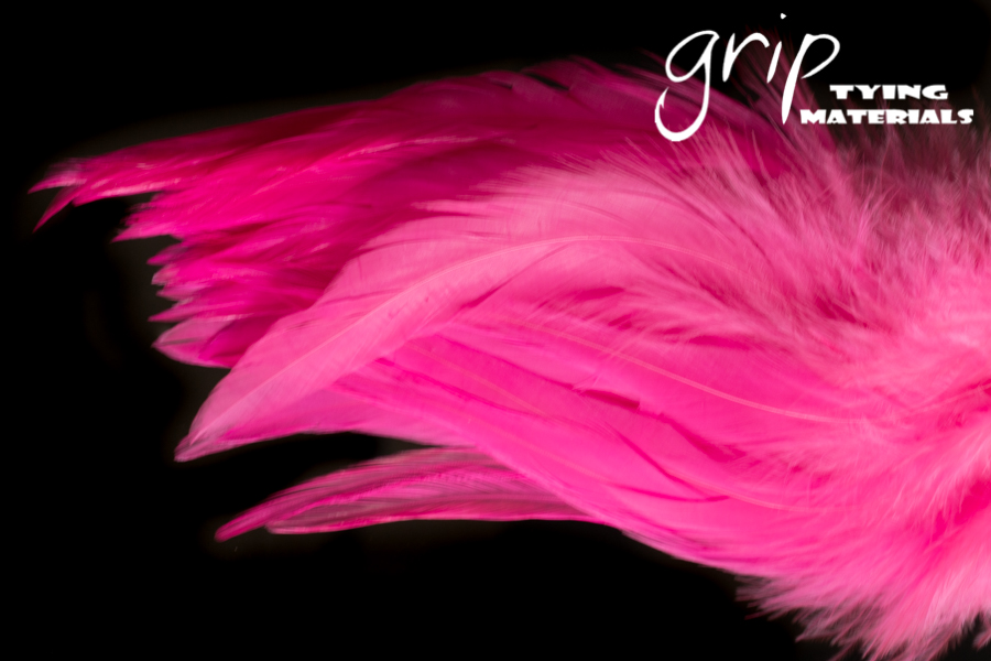 Strung Saddle Hackle 5-7Inch – Hot Pink