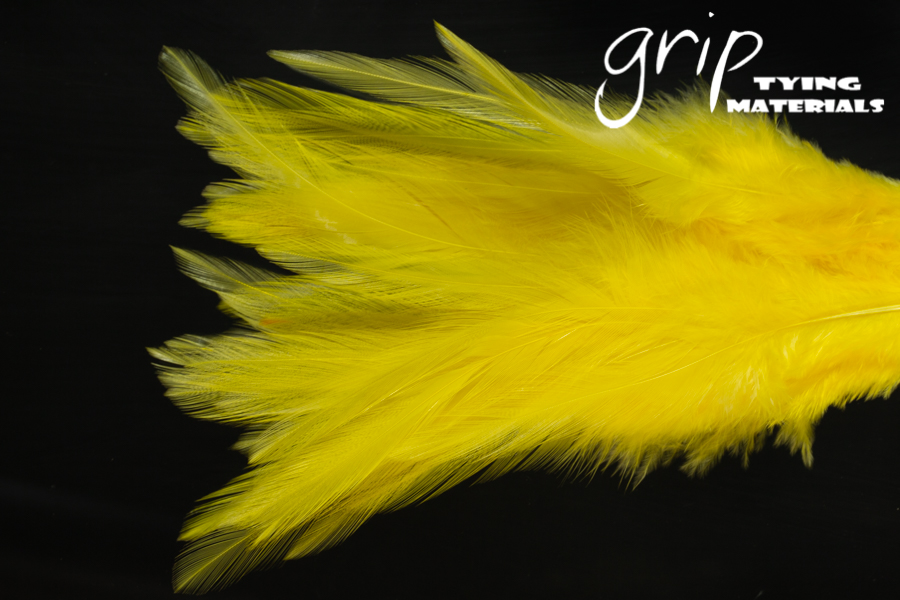 Strung Saddle Hackle 5-7Inch – Yellow