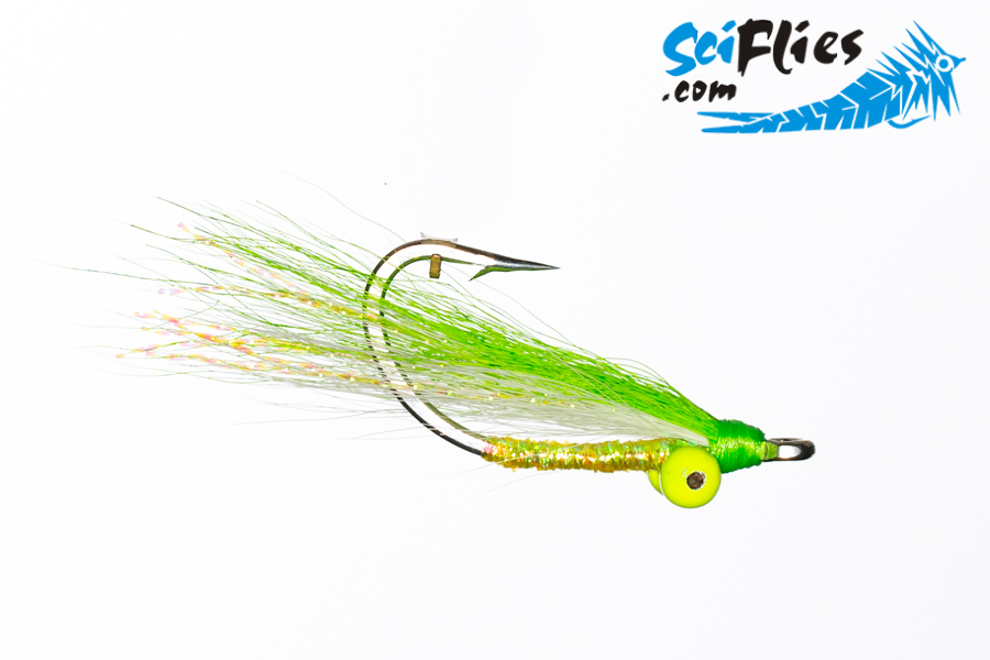 Baby Clouser – WhiteChartreuse
