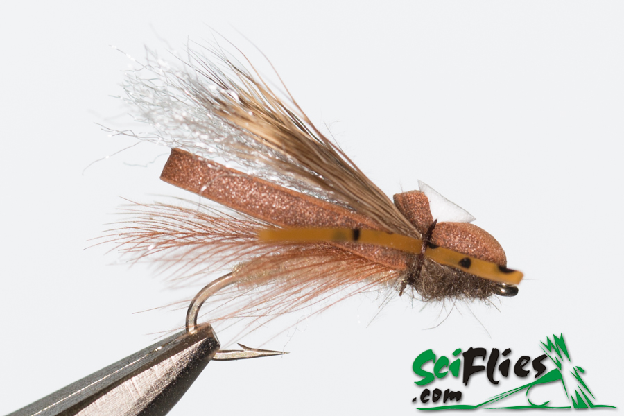 Foam Wing Hopper – Brown