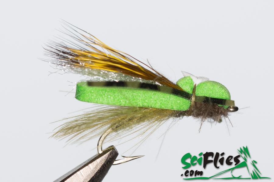 Foam Wing Hopper – Lime